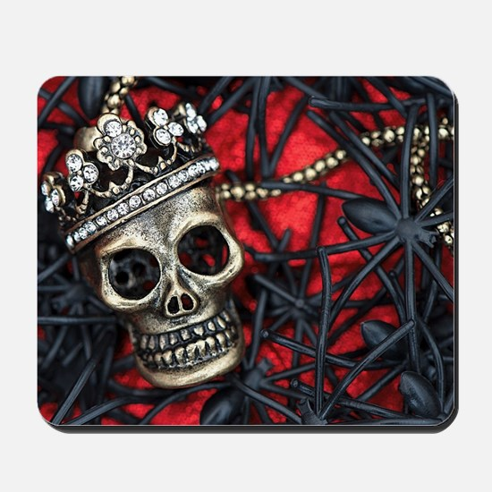 Skull and Spiders Mousepad