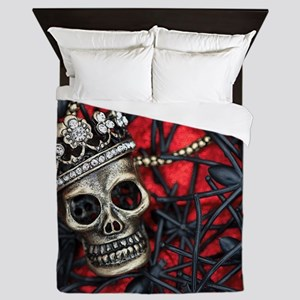 Skull and Spiders Queen Duvet