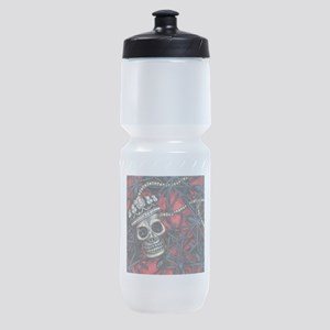 Skull and Spiders Sports Bottle