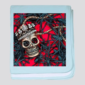 Skull and Spiders baby blanket