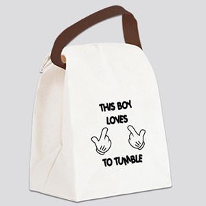 This boy loves tumbling Canvas Lunch Bag