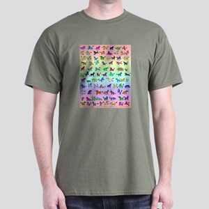 Rainbow All Unicorns Dark T-Shirt