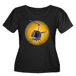 Helicopt Women's Plus Size Scoop Neck Dark T-Shirt