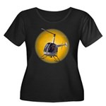 Helicopter Women's Plus Size Scoop Neck Dark T-Shi