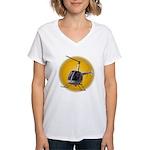 Helicopter Women's V-Neck T-Shirt