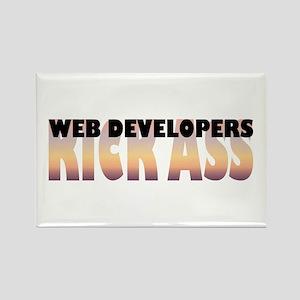 Web Developers Kick Ass Rectangle Magnet