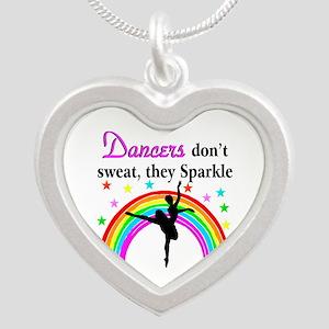 SPARKLING DANCER Silver Heart Necklace