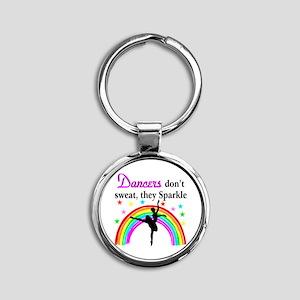 SPARKLING DANCER Round Keychain