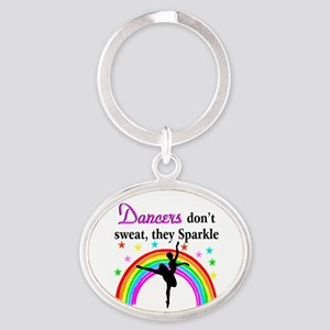 SPARKLING DANCER Oval Keychain