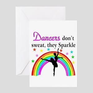 SPARKLING DANCER Greeting Card