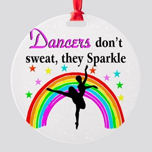 SPARKLING DANCER Round Ornament