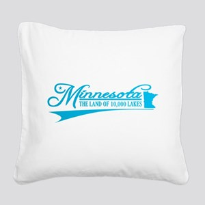 Minnesota State of Mine Square Canvas Pillow