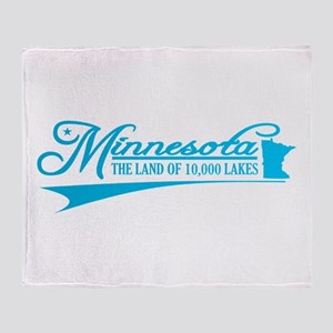 Minnesota State of Mine Throw Blanket