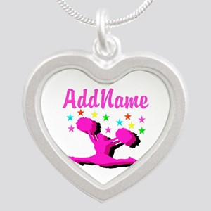 CHEERLEADING STAR Silver Heart Necklace