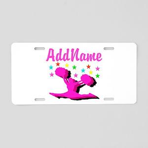 CHEERLEADING STAR Aluminum License Plate
