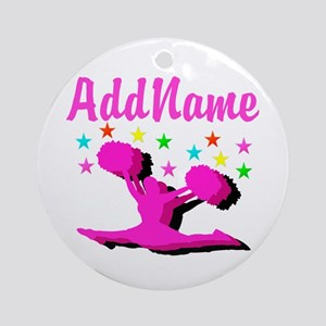 CHEERLEADING STAR Ornament (Round)
