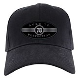 70th birthday mens Baseball Cap with Patch