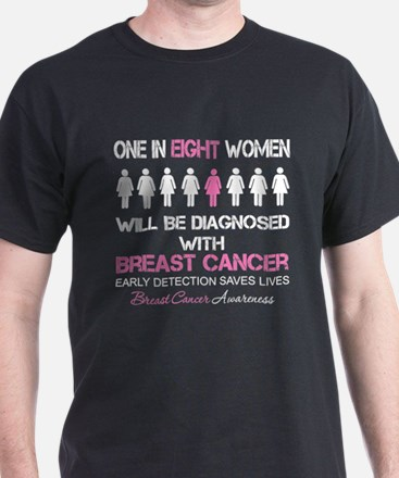 1 In 8 Diagnosed with Breast Cancer T-Shirt