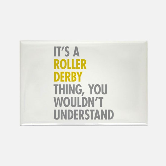 Roller Derby Thing Rectangle Magnet
