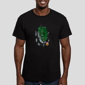 Hulk Fist Men's Fitted T-Shirt (dark)