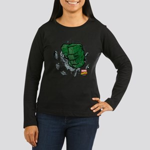 Hulk Fist Women's Long Sleeve Dark T-Shirt
