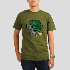 Hulk Fist Organic Men's T-Shirt (dark)