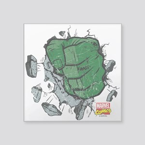 "Hulk Fist Square Sticker 3"" x 3"""