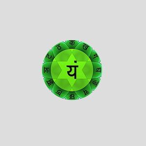 Green Anahata Heart Chakra Mini Button