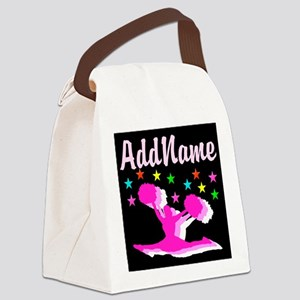 PINK CHEERLEADER Canvas Lunch Bag