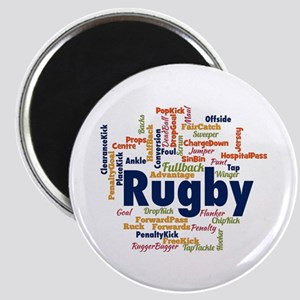 Rugby Word Cloud Magnets