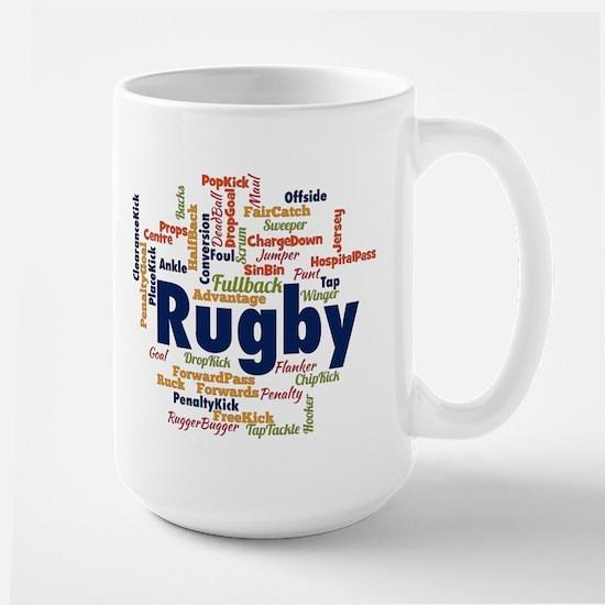 Rugby Word Cloud Mugs