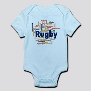 Rugby Word Cloud Body Suit
