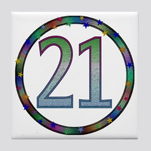 21st Birthday Gifts Tile Coaster