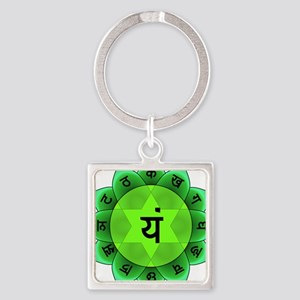 Green Anahata Heart Chakra Keychains