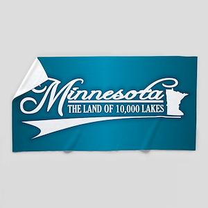 Minnesota State of Mine Beach Towel