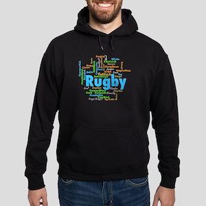 Rugby Word Cloud Hoodie