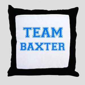 TEAM BAXTER Throw Pillow