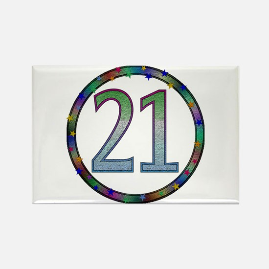 21st Birthday Buttons and Magnets Rectangle Magnet