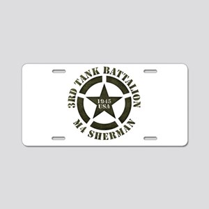 Sherman Tank M4 Aluminum License Plate