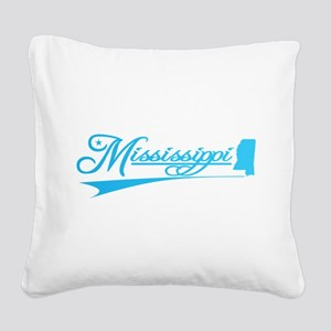 Mississippi State of Mine Square Canvas Pillow