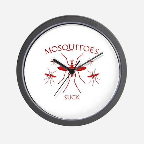 Mosquitoes Suck Wall Clock