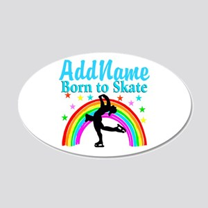 GRACEFUL SKATER 20x12 Oval Wall Decal