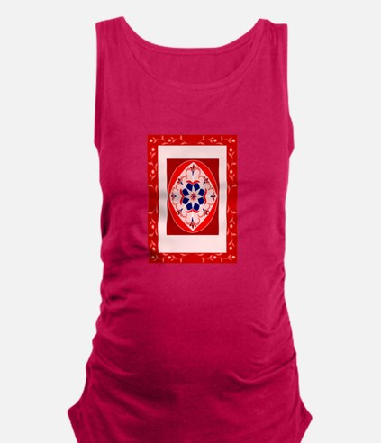 a fancy red rug. Maternity Tank Top
