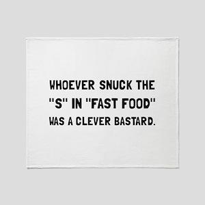 Fast Fat Food Throw Blanket