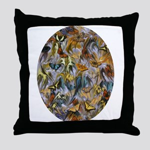 BUTTERFLY ILLUSION OVAL Throw Pillow