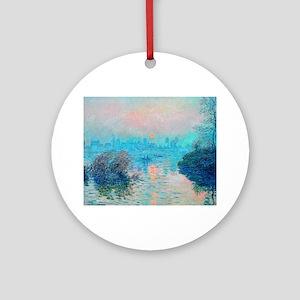 Monet: Impression Sunset Ornament (Round)