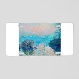Monet: Impression Sunset Aluminum License Plate
