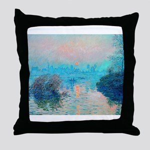 Monet: Impression Sunset Throw Pillow