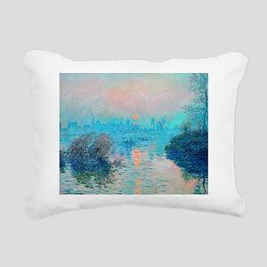 Monet: Impression Sunset Rectangular Canvas Pillow