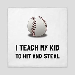 Hit And Steal Baseball Queen Duvet